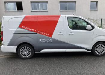 Habillage adhesif sur vehicule utilitaire a Tours